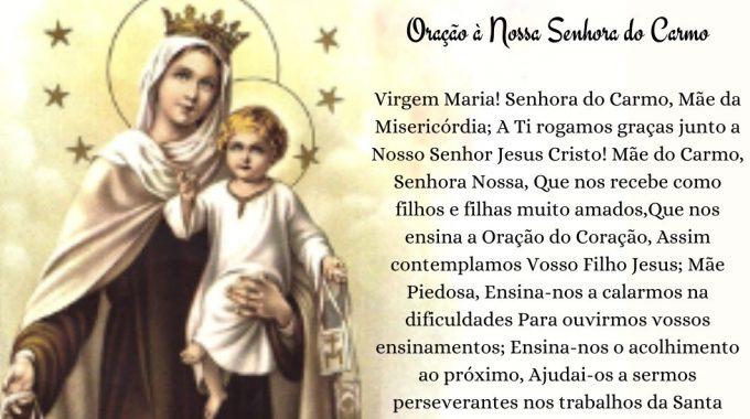 16 De Julho, Dia De Nossa Senhora Do Carmo